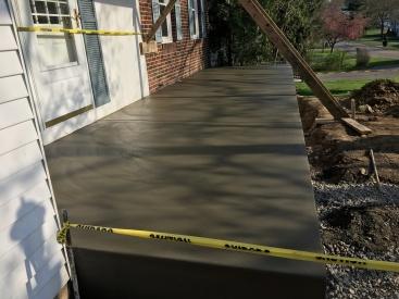 Concrete Front Porch