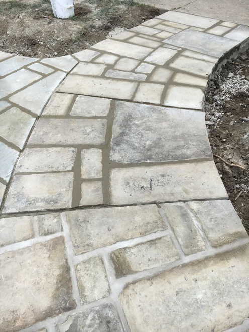Sidewalk with Stones (after)