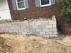 Front Porch Base Construction
